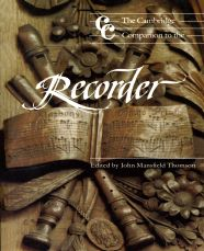 Cambridge Companion to Recorder