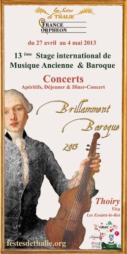 Stage Brillamment Baroque 2013