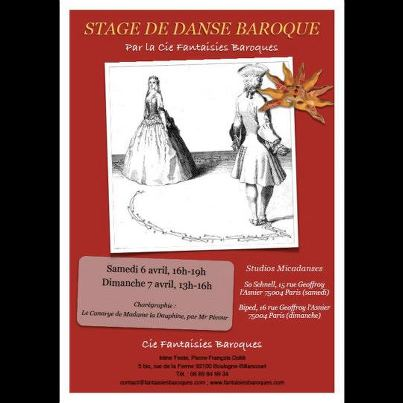Stage Fantaisies Baroques Avril 2013