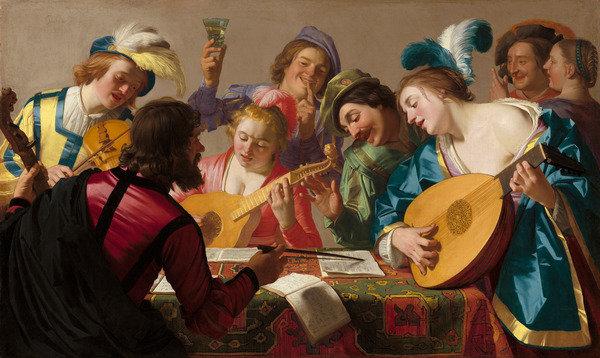 Honthorst, Gerrit von   The concert (1623)